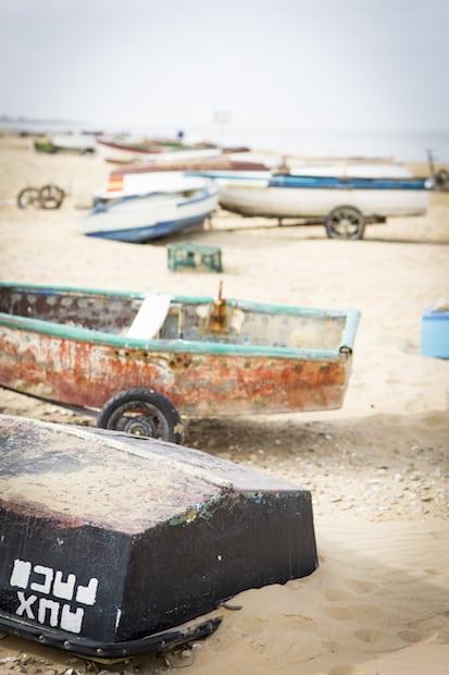 Sanlucarin ranta on pitkä ja pejmeähiekkainen.