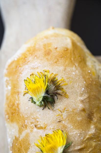 Kukitettu leipä.
