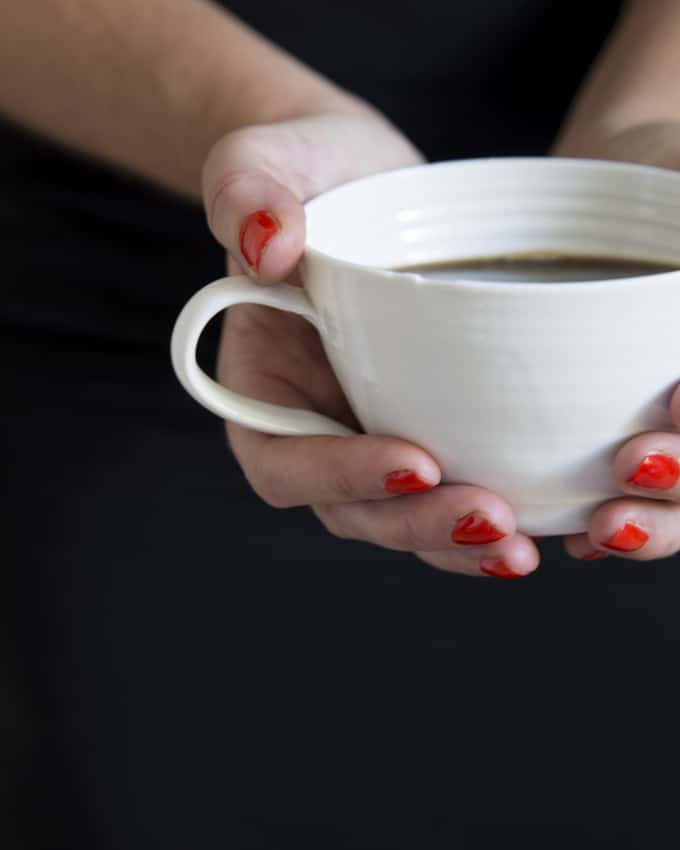 Kahvi on tärkeää.