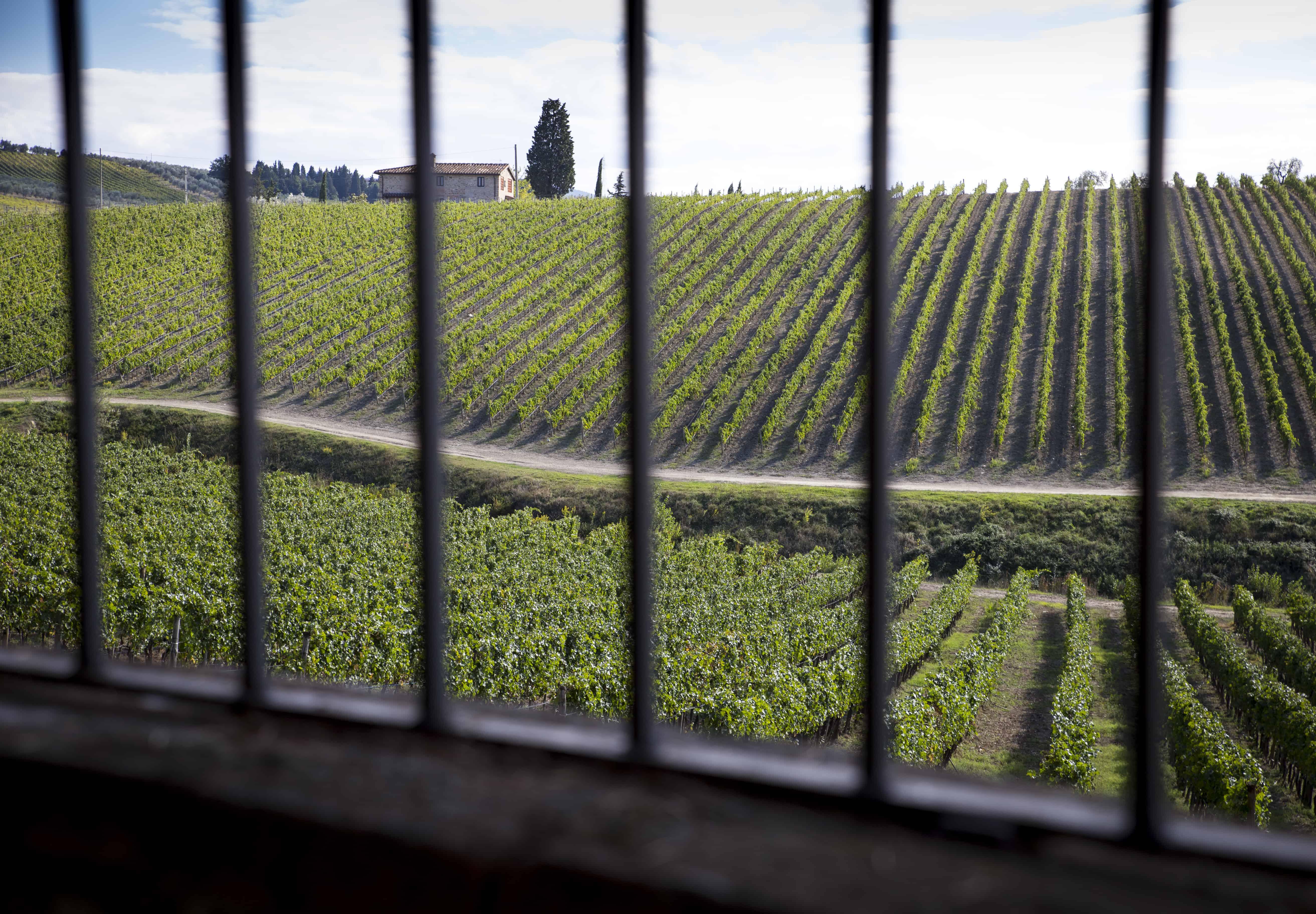 Pieni talo Toscanassa.