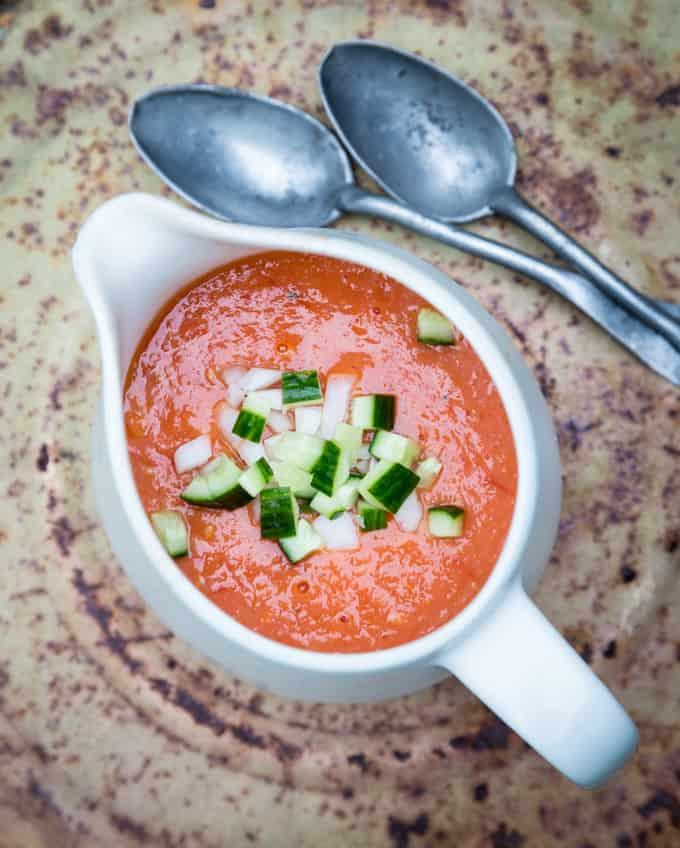 gazpacho, gazpacho paahdetuista tomaateista