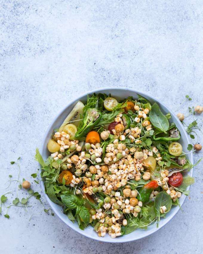 hedelmäinen mifu-salaatti, mifu ruoanlaitossa, mifu-salaatti, mifun käyttäminen, paistettava ruokarae, mifu-reseptejä