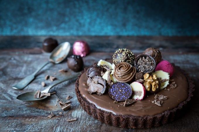 friikkisuklaapiirakka, suklaapiirakka, maitosuklaapiirkaa, ganacheohje, suklaaganachepiirakka, suklaapiirakka