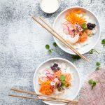 sushi bowl, kulhosuokaa, sushikuho, kulhoruokia