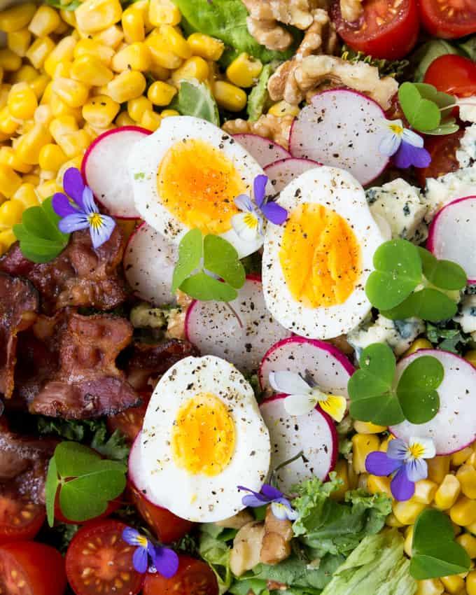 cobb-salaatti, vihreä tabasco, tabasco, yhteistyö, kesäsalaatti, salaattireseptejä, kasvisruokaa, kesäruokaa
