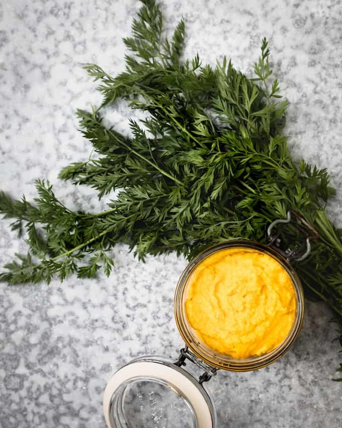 porkkanapesto, naattipesto, porkkanareseptejä, mitä tehdä porkkanan naateista, porkkana-avokadosalaatti