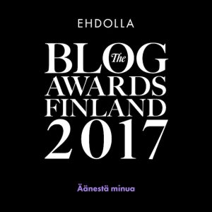 ehdolla the blog awards finland, paras ruokablogi, ehdolla, TBAF2017