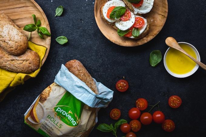 gluteeniton leipä, provenan kaura-kvinoa-batattisämpylät, aamiaisherkkuja