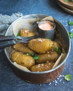 hasselbackan perunat, perunasnäksi, miten hasselbackan perunat valmistetaan