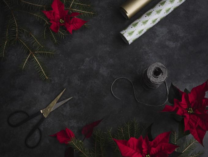 joululahja, lahjojen paketointia, joulutähti