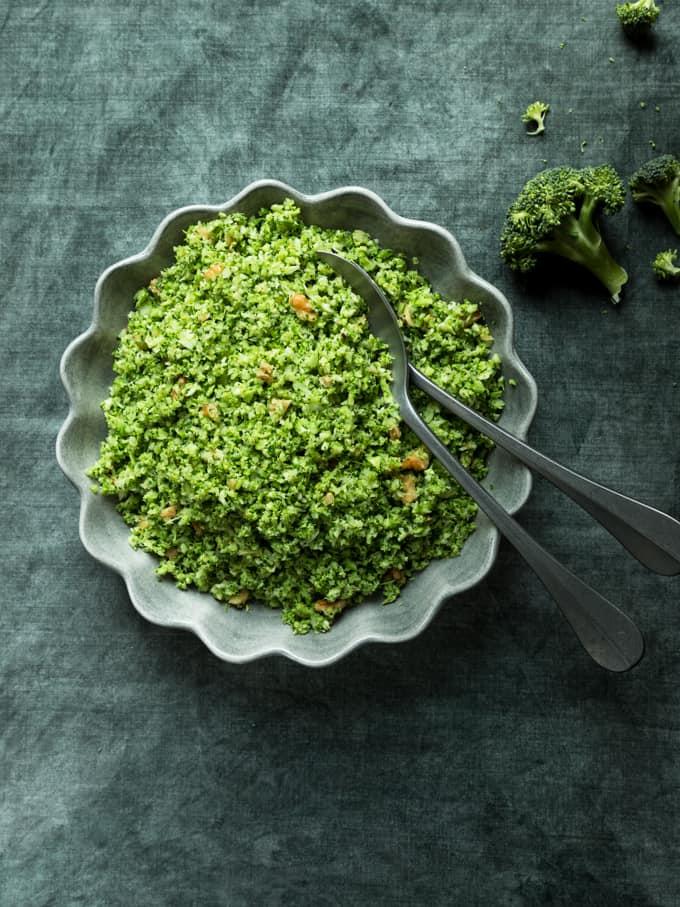 parsakaaliriisi, parsakaali, kasvisruoka, vegaanilisuke