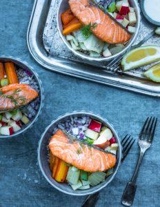 lohi bowl, kulhoruoka, kalaneuvos-resepti, lohireseptejä