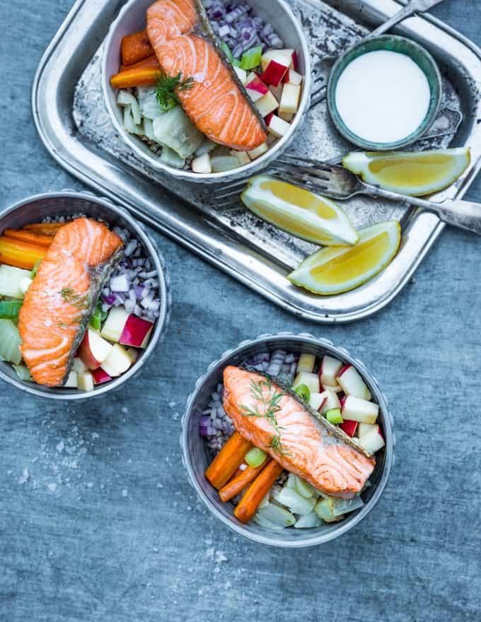 lohi bowl, kulhoruoka, lohikulho, kulhoruokareseptejä