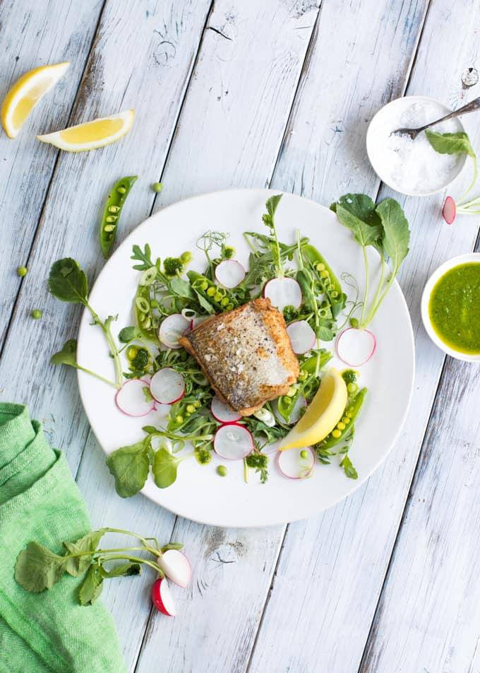 paistettua siikaa, becel ruoanlaitossa, paistettu siika ja kevätvihanneksia, kalareseptejä