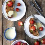 creme brulee köyhät ritarit, mansikkajälkiruoka, kesäjälkiruoka