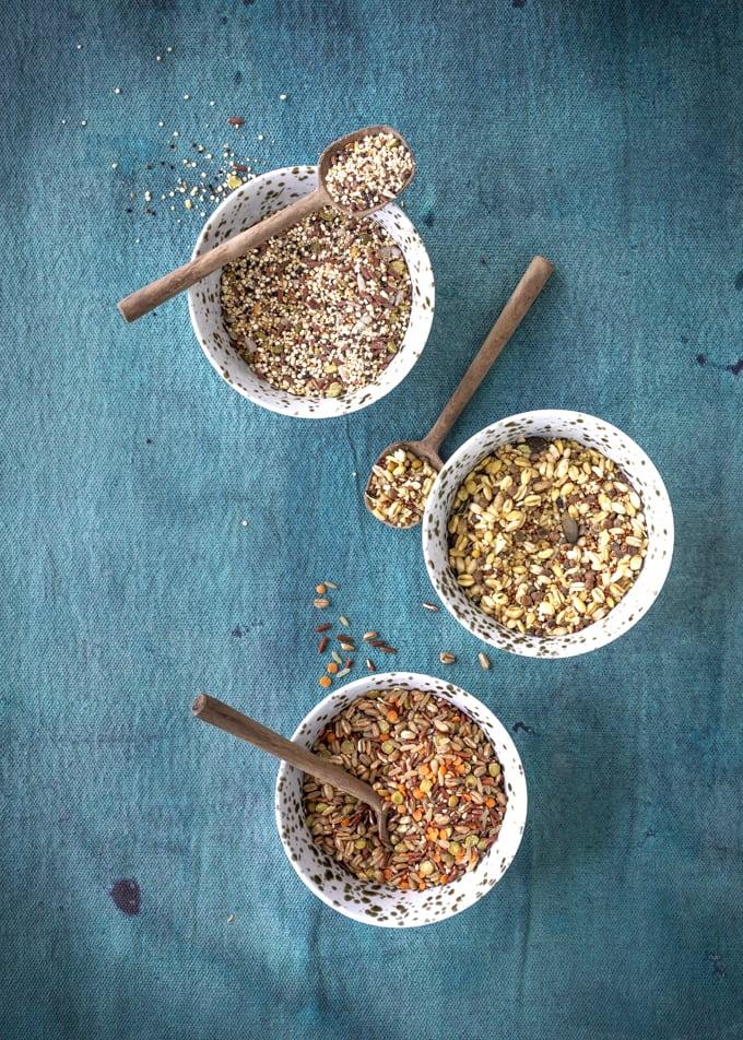 paahdetut vinahhenset ja kvinoa-kikhernelisuke, go grren jyvä & palkokasvisekoitus, kvinoa-kikhernesekoitus, helppoa arkiruokaa, kasvisruokareseptejä