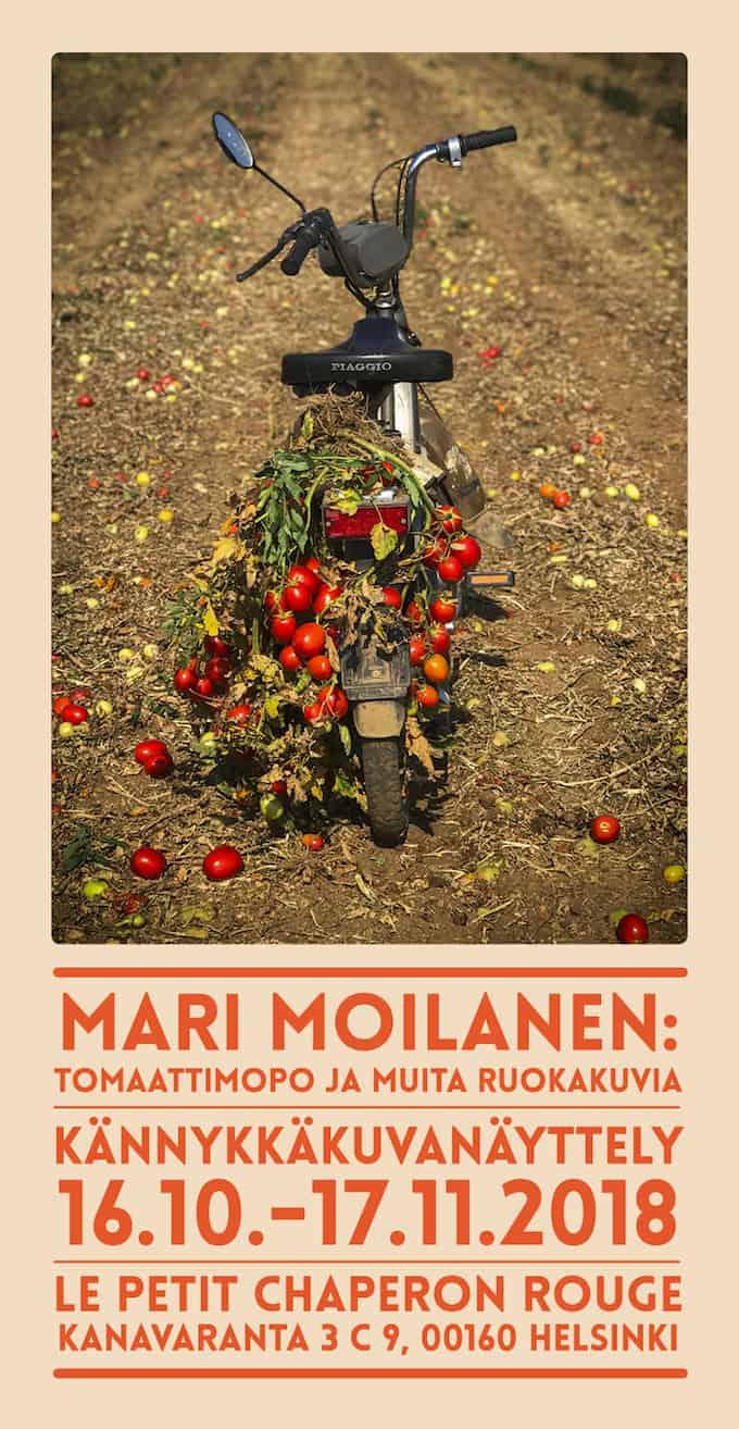 kännykkakuvanäyttely, tomaattimopo ja muita ruokakuvia