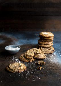 ruis chocolate chip cookies, rukiseet suklaahippukeksit, ruiscookiesit