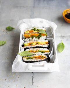 sushi, sushi sandwich, onigirazu, sushi valmistaminen, sushi voileipä