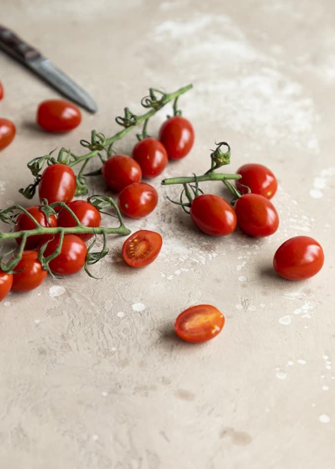 tomaattipasta, pancettapasta