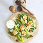 grillattu jättikatkarapucaesar, grillattu salaatti, jättikatkarapucaesar
