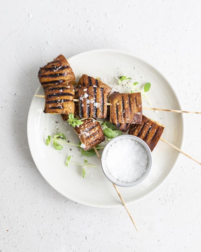 portobellovartaat, grillatut portobellosienet, grillatut sienet, kasvisruokaa grillistä