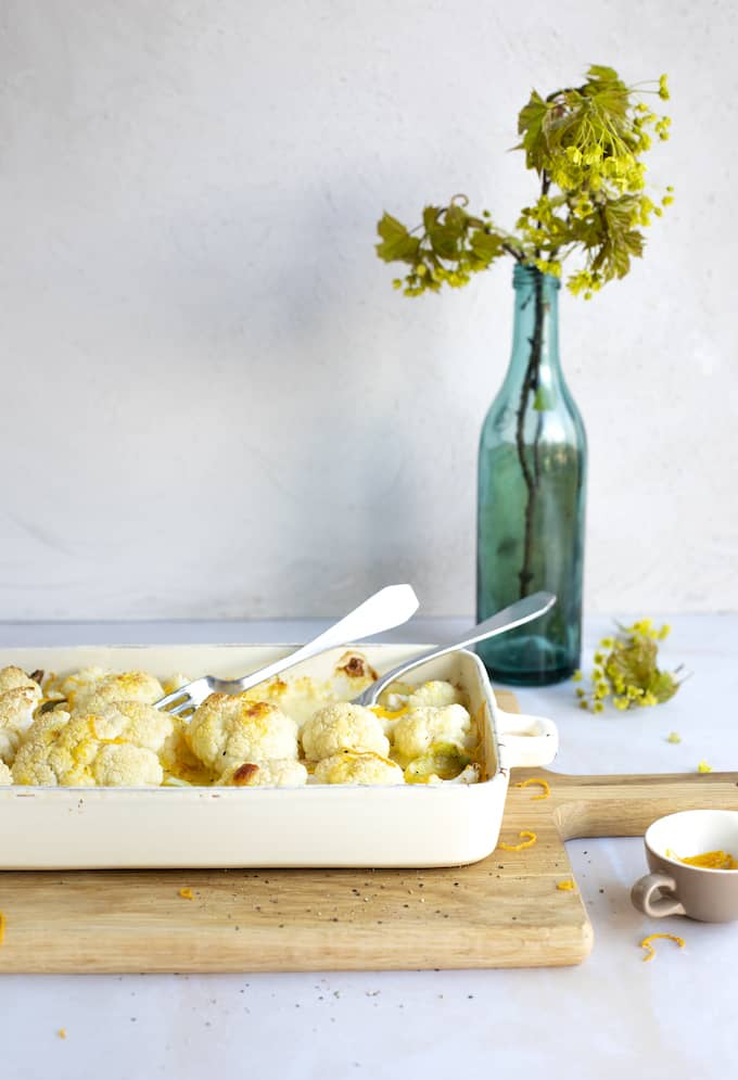 kukkakaalilaatikko, appelsiinilla maustettu kukkakaalilaatikko