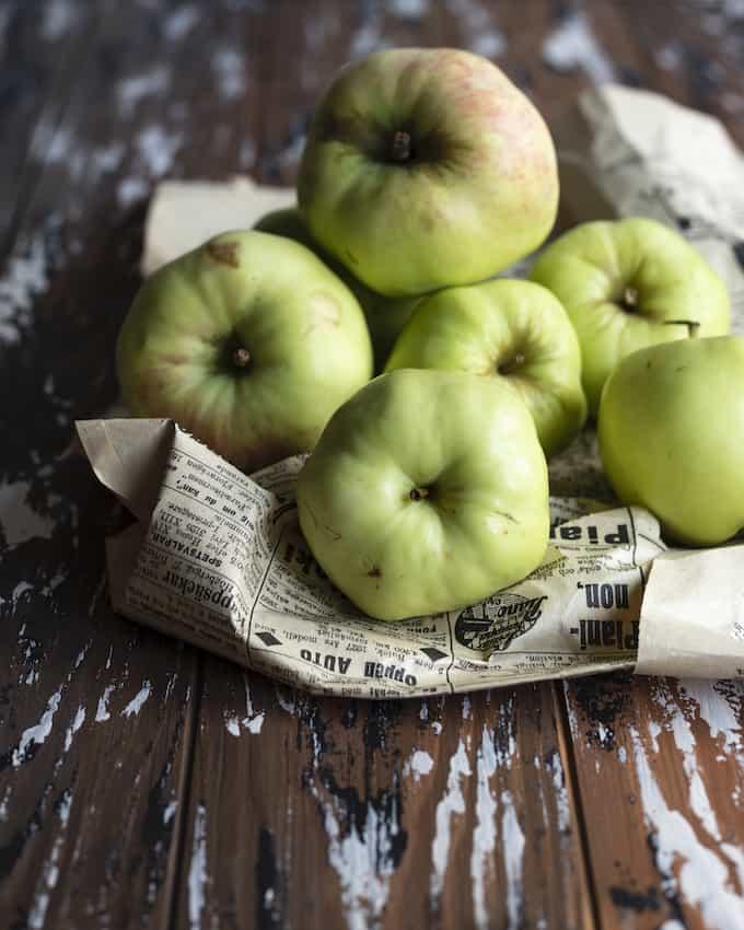 toscaomenat suolakinuskilla, toscaomenat, antonovka-omenat, omenajälkiruokia
