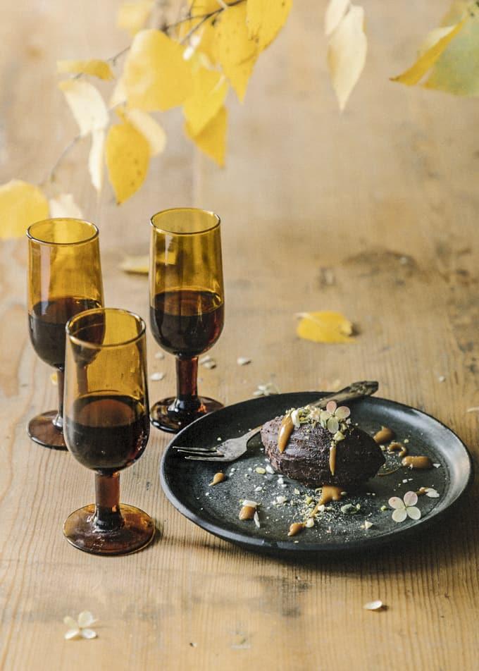 sherry week, suklaaganachejälkiruoka, suklaaganache, sherry