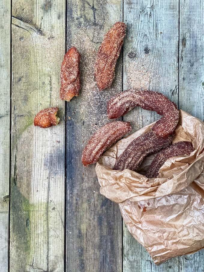 kanelichurrot, churros-resepti
