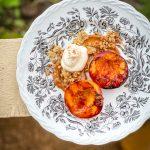 grillatut nektariinit, griilijälkiruoka, jälkiruyoka grillistä, helppo kesäjälkiruoka