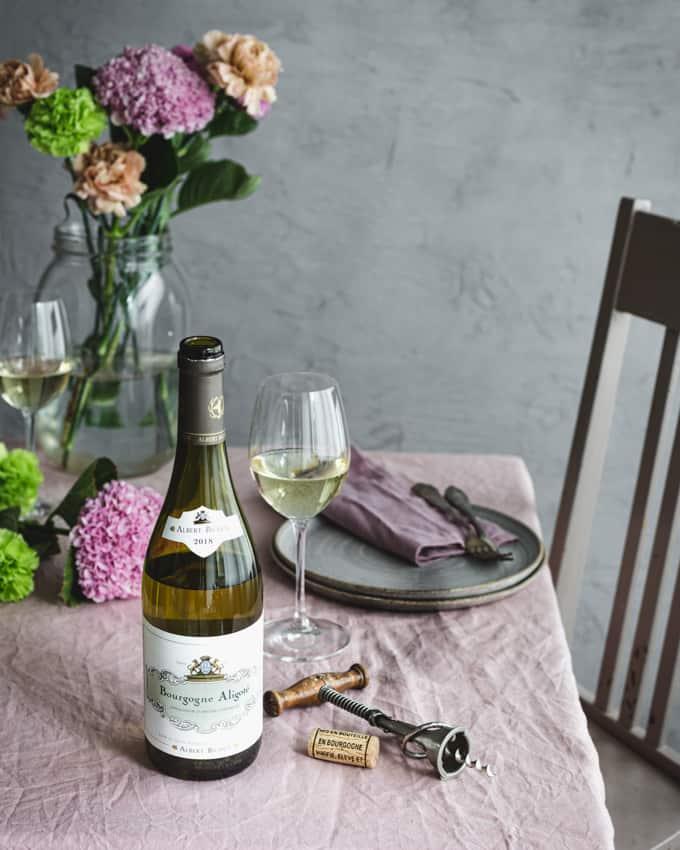 albert bichot viini, bourgogne aligoté , katkarapuskagen