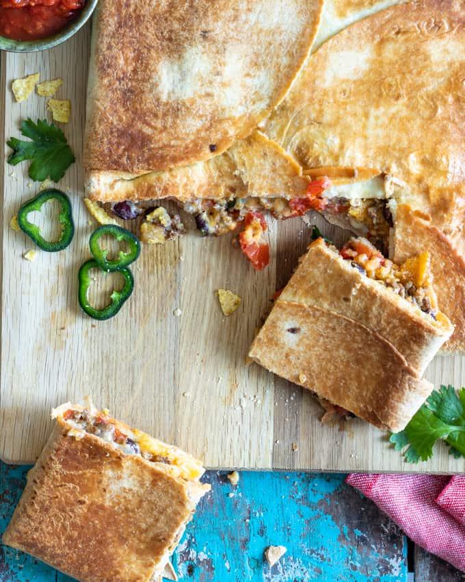 crunch wrap, crunch wrap-pelts, texmex-peltiruoka, meksikolainen piirakka, tortillapiirakka, wrap hack