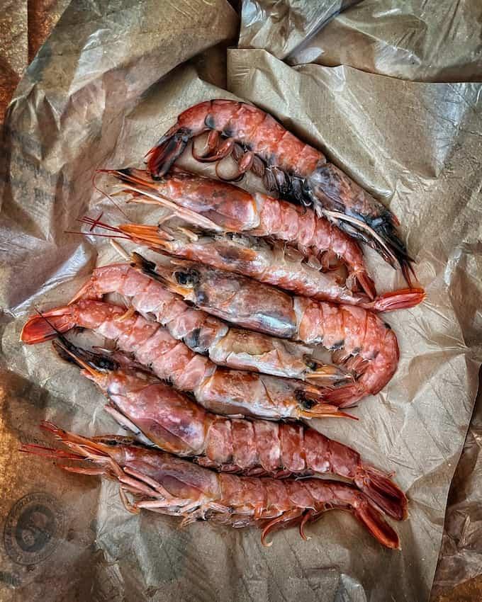 grillatut meriravut, grillatut scampit, grillatut langustiinit, grillatut äyriäiset, grillatut ravut