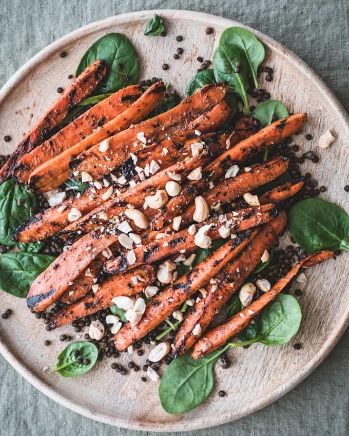 grillatut porkkanat, marinadi grilliporkkanoille