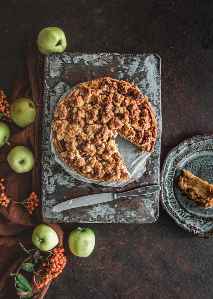omenamutakakku, omenakakku, omenatäytekakku, mehevä omenakakku